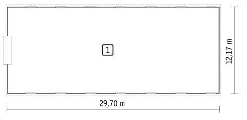 Rzut parteru POW. 354,8 m²