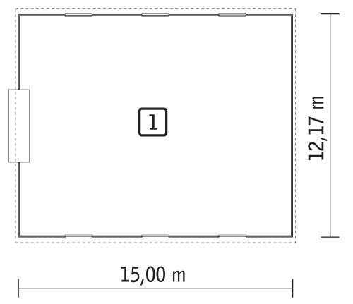 Rzut parteru POW. 178,2 m²