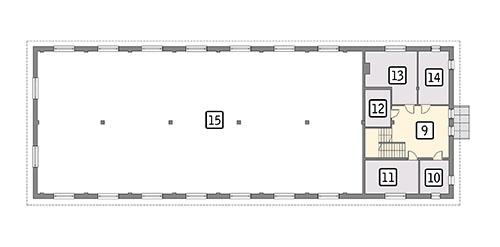 Rzut piętra POW. 98,3 m²