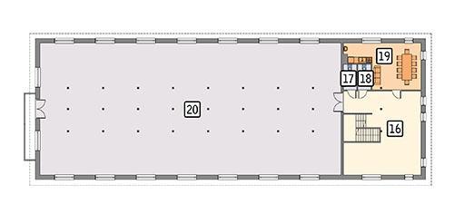 Rzut poddasza POW. 500,0 m²