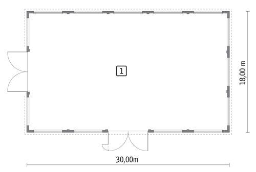 Rzut parteru POW. 509,7 m²