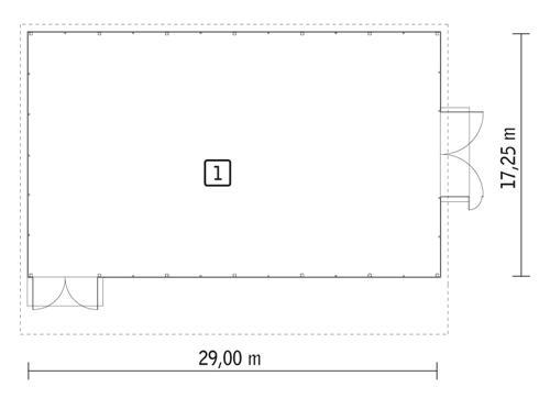 Rzut parteru POW. 495,6 m²