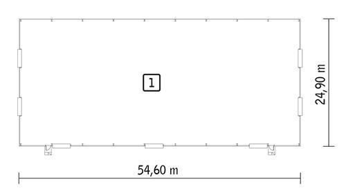 Rzut parteru POW. 1 320,0 m²