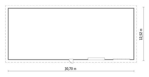 Rzut parteru POW. 367,8 m²