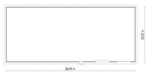 Rzut parteru POW. 551,3 m²
