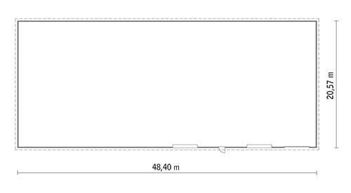 Rzut parteru POW. 975,0 m²
