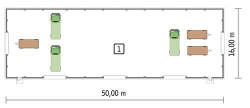 Rzut parteru POW. 764,7 m²