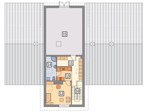 Rzut poddasza POW. 93,4 m²
