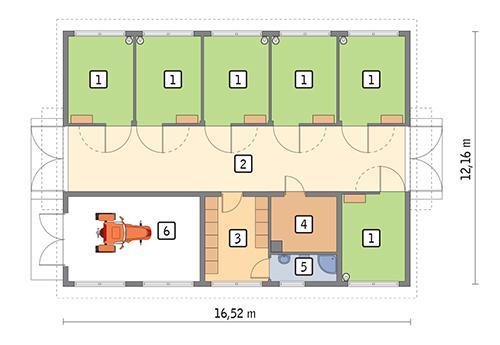 Rzut parteru POW. 167,4 m²