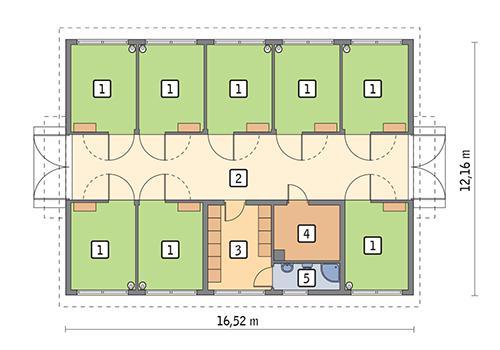 Rzut parteru POW. 168,3 m²