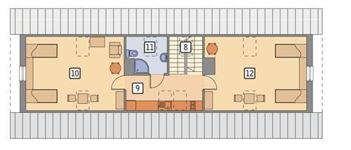 Rzut poddasza POW. 96,3 m²