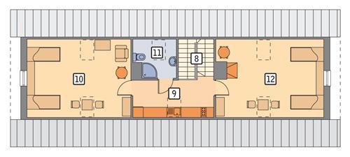 Rzut poddasza POW. 95,9 m²