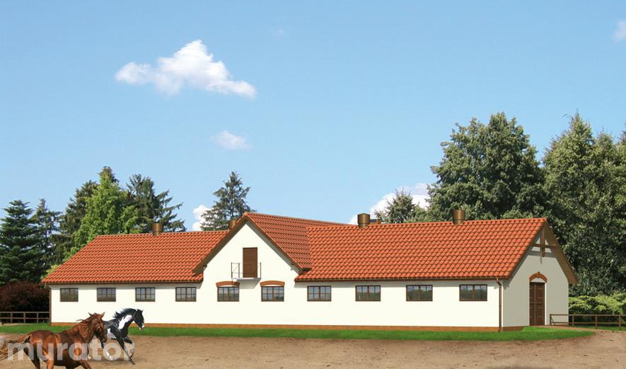 S10 Stajnia dla 17 koni z częścią mieszkalną i poddaszem gospodarczym