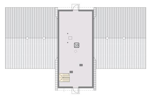 Rzut poddasza POW. 110,4 m²