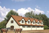 S16a Stajnia dla 14 koni z częścią mieszkalną