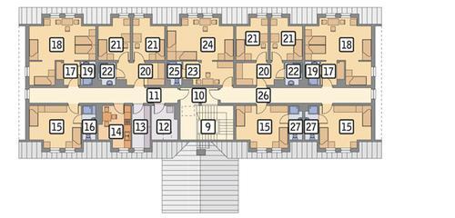 Rzut poddasza POW. 385,0 m²