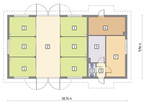 Rzut parteru POW. 161,4 m²