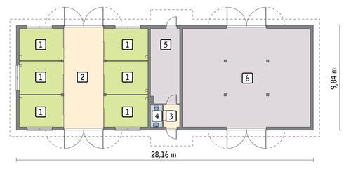 Rzut parteru POW. 247,0 m²