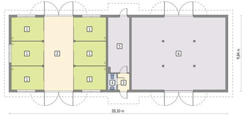 Rzut parteru POW. 248,3 m²