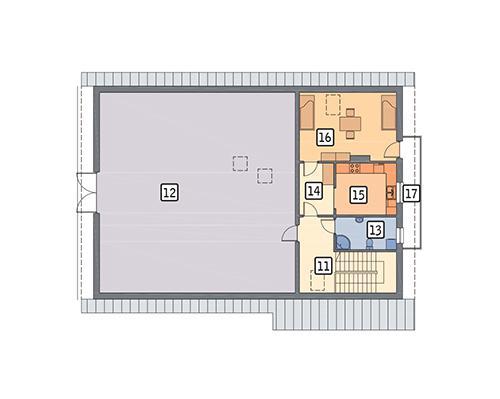 Rzut poddasza POW. 199,2 m²