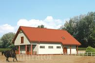 SC04 Stajnia dla 6 koni z częścią mieszkalno-rekreacyjną i poddaszem gospodarczym