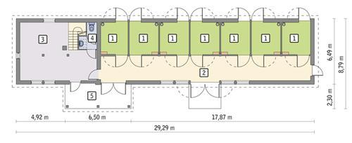 Rzut parteru POW. 151,4 m²