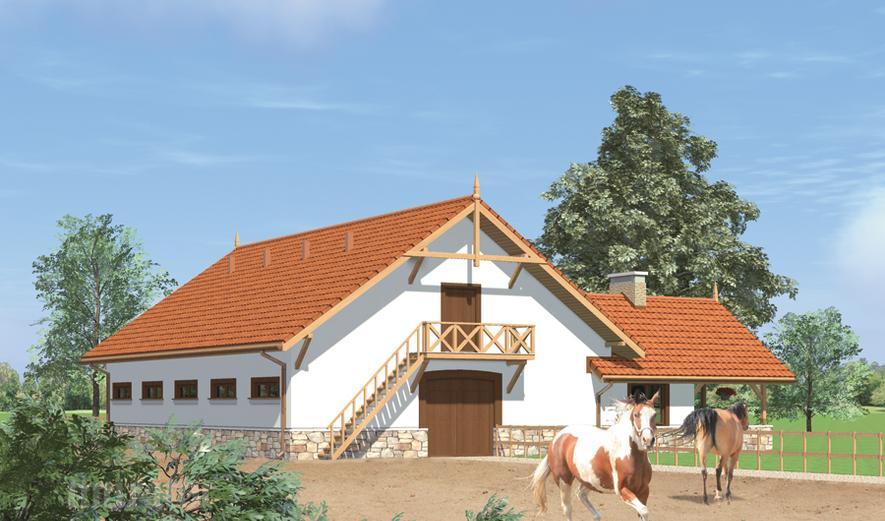SC11 Stajnia dla 9 koni z poddaszem gospodarczym