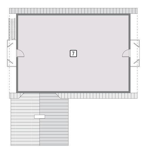 Rzut poddasza POW. 169,1 m²