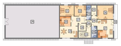 Rzut poddasza POW. 416,6 m²
