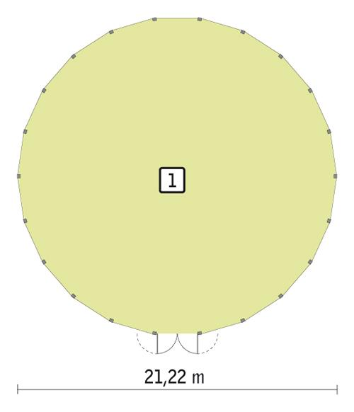 Rzut parteru POW. 340,0 m²