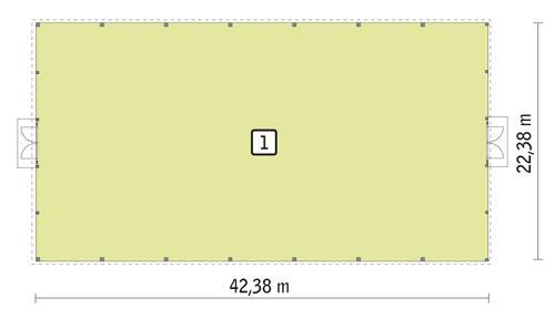 Rzut parteru POW. 911,1 m²