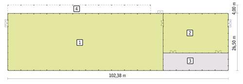 Rzut parteru POW. 2 606,7 m²