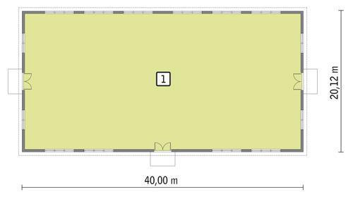 Rzut parteru POW. 757,3 m²