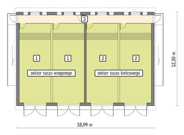 RZUT PRZYZIEMIA POW. 191,9 m²