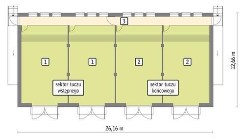 Rzut przyziemia POW. 290,6 m²
