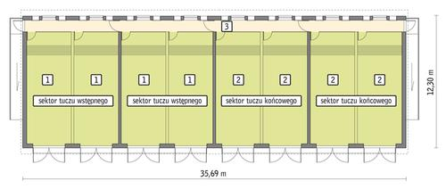 Rzut przyziemia POW. 383,8 m²