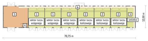 Rzut przyziemia POW. 757,9 m²