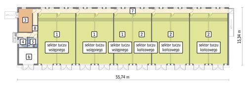 Rzut przyziemia POW. 771,6 m²
