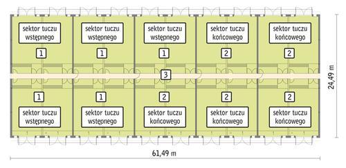 Rzut przyziemia POW. 1 392,7 m²