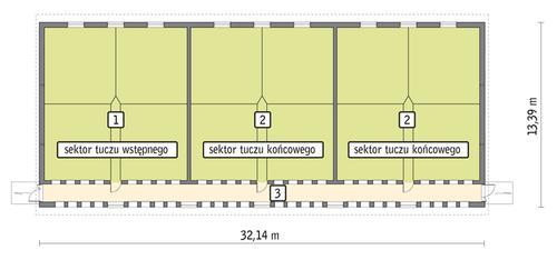 Rzut przyziemia POW. 384,0 m²