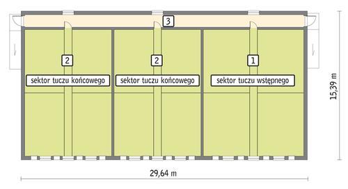 Rzut przyziemia POW. 409,6 m²