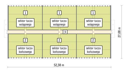 Rzut przyziemia POW. 1 313,1 m²