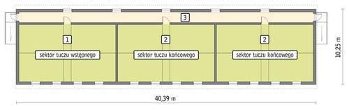 Rzut przyziemia POW. 363,3 m²