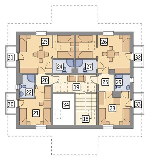 Rzut poddasza POW. 117,9 m²