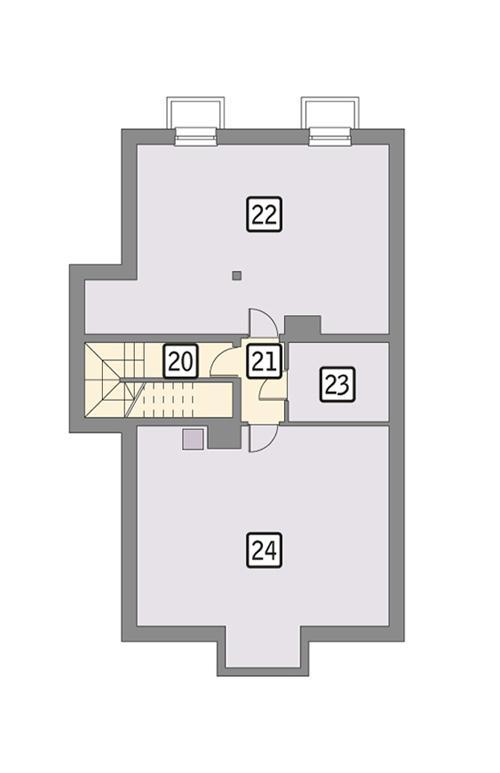 Rzut piwnicy POW. 96,4 m²