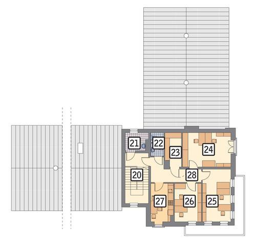Rzut piętra POW. 96,9 m²