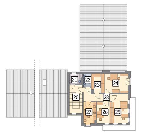 Rzut piętra POW. 97,0 m²