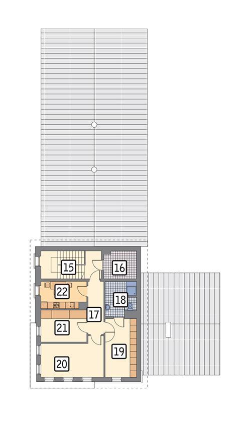 Rzut piętra POW. 94,4 m²