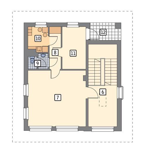 Rzut piętra POW. 85,0 m²