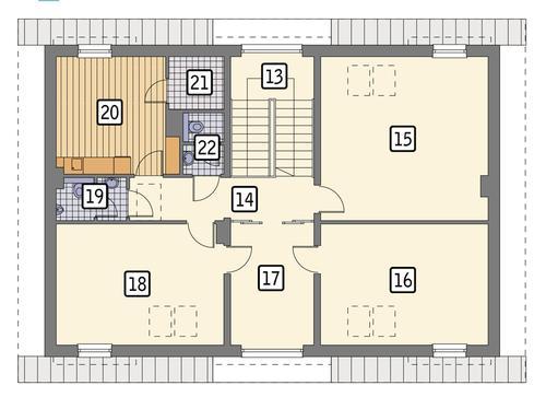 Rzut poddasza POW. 146,0 m²